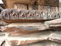 Close up of the carvings at Warangal fort