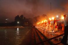Evening Aarti at Triveni Ghat in Rishikesh