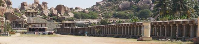 Hampi Bazaar - glimpse into the empire
