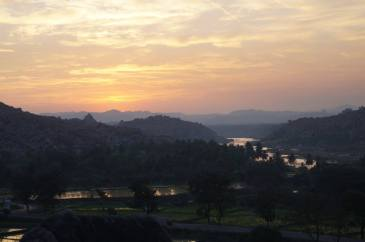 Sunrise at Anjanadri Hill Hampi