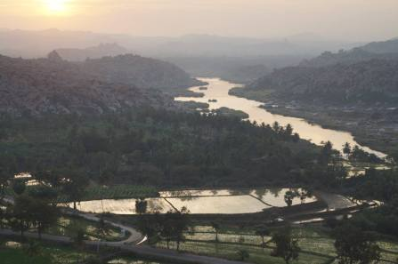 View from Anjanadri Hill Hampi