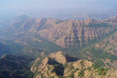View from Arthur's seat in Mahabaleshwar