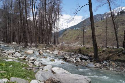Fresh water flow near Solang Valley