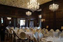 Getting ready for a reception Casa Loma