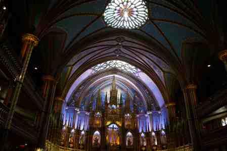 Inside Notre-Dame Montreal