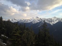 View at the end of the Gondola ride in Banff