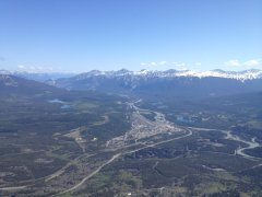 View from Whistler mountain top in Jasper