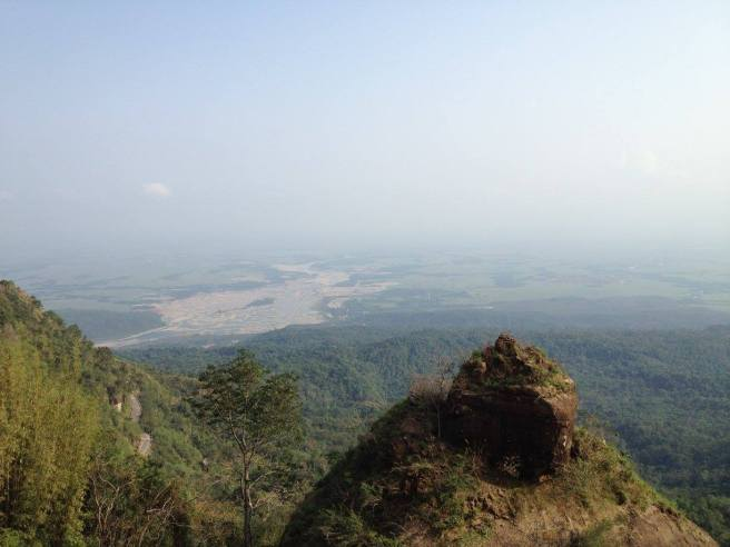 View of Bangladesh plains from Cherrapunji