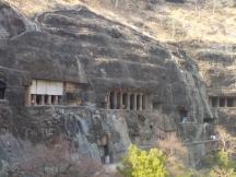 Ajanta caves panorama