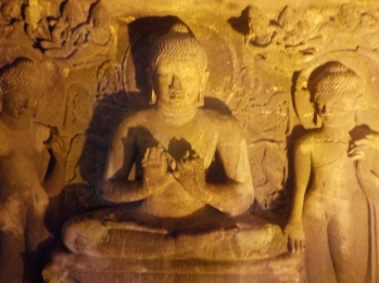 Ajanta illuminated Buddha
