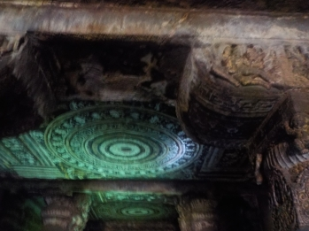 Ajanta painting highlighted