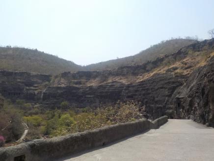 Ajanta path to caves
