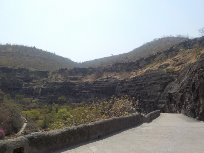Ajanta path to caves