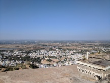view from the top of Bhongir Fort