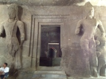 Temple inside Elephanta Caves