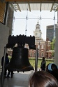 Liberty Bell with Independence Hall