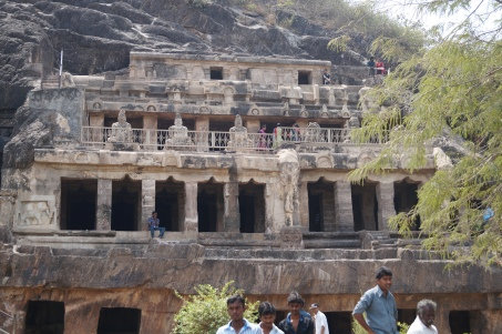 Undavalli caves from the outside