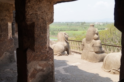 Undavalli Caves looking out