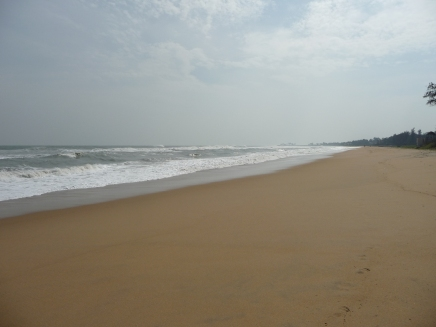 Beach near the tourism resort