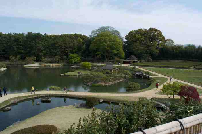 The many trails at the Korakuen Garden