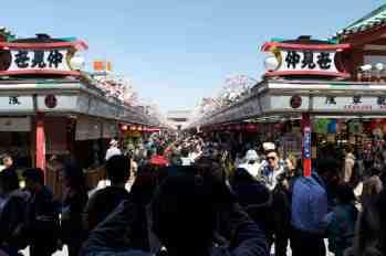 Tokyo Sensoji Market leading to the Temple