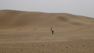 Exploring the dunes near Longewala
