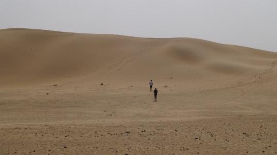 Exploring the dunes near Longewala