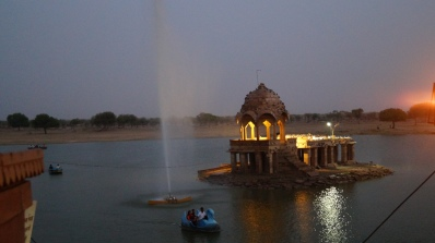 Gadisar Lake at Sunset