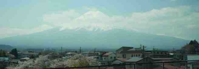 Mt Fuji Towers over the nearby villages