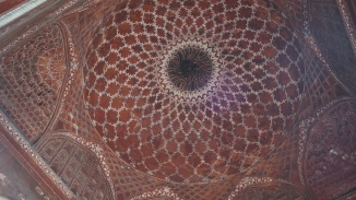 Roof of the mosque at Taj Mahal