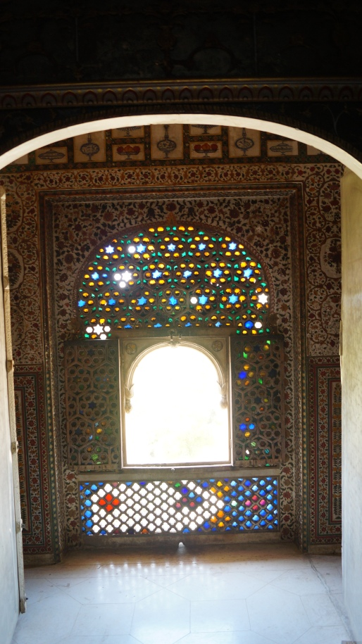 Stained glass Walls at Junagarh