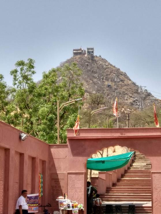 Steps leading to Savitri Temple Pushkar