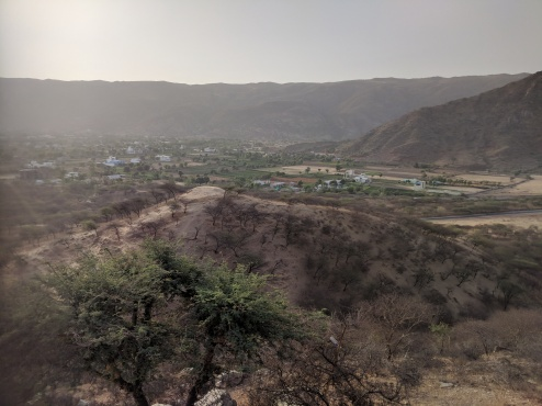 View as you climb up to Savitri Temple Pushkar