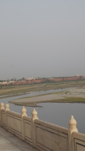 View of Yamuna River and Agra For from Taj