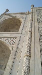 Zig zag illusion at Taj Mahal