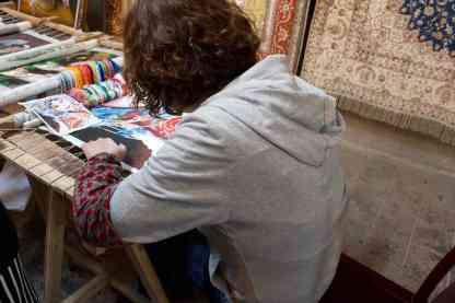 Silk Thread Artist at Work Xian