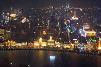 Shanghai Night view from Pearl Tower