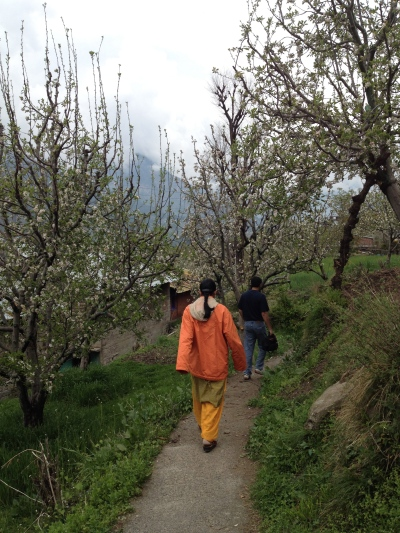 Walking in a village near Manali