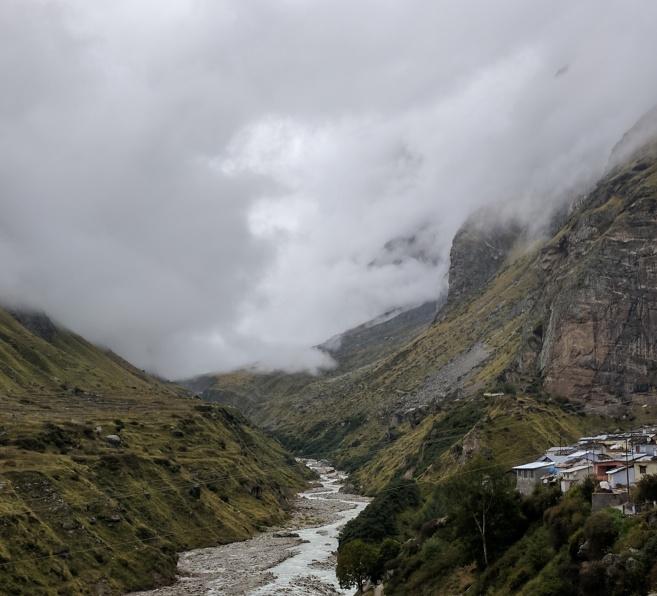 Alaknanda River and Mana