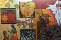 Artwork in Kaba Gandhi