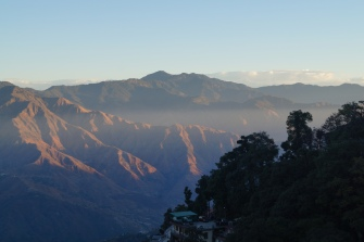 Early morning views towards the inner himalayas in Mussoorie