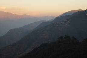 Inner Himalayas on the way to Mussoorie