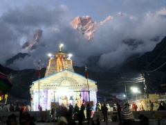 Kedarnath Temple at Sunset