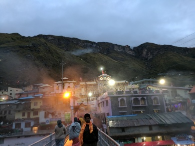 Light on the mountain top in Badrinath