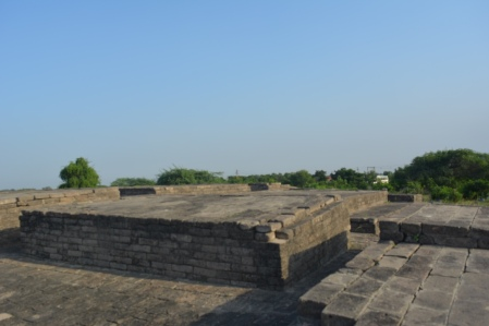 Remains of buildings