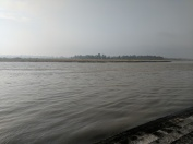 River Ganga as it flows by Paramarth Ashram in Haridwar