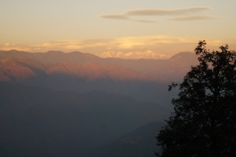 View of Himalayas between Kempty and Mussoorie