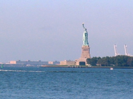 Approaching Statue of Liberty