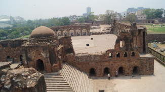 Feroz Shah Kotla view from the pillar area