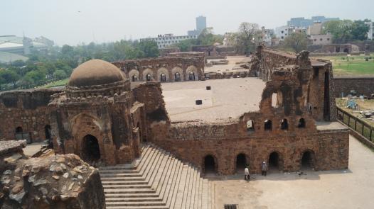 Feroz Shah Kotla view from the pillar area